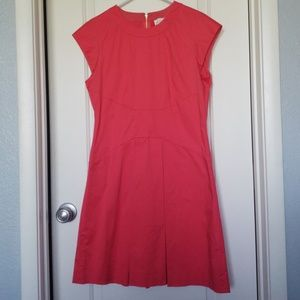 Rose colored pleated Kate Spade dress